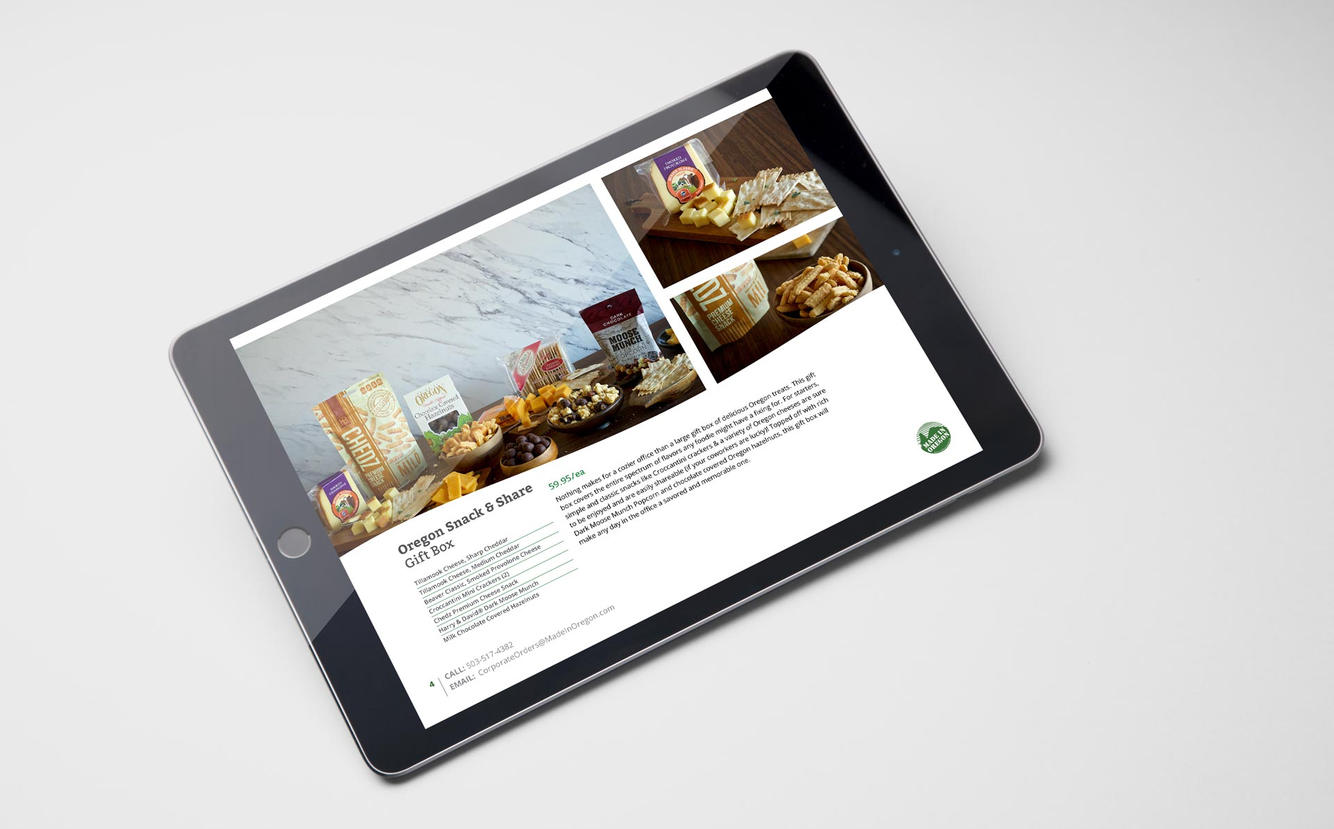 tablet mockup pdf coporate sales catalog product photos