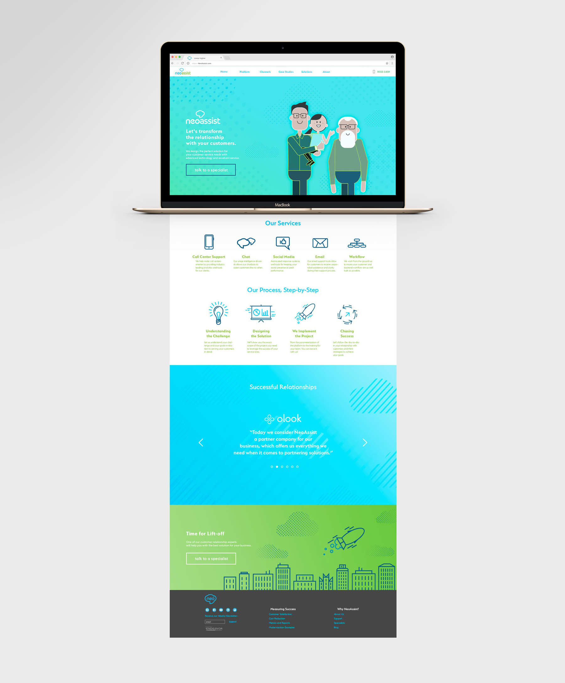 landing-page design gradients patterns iconography
