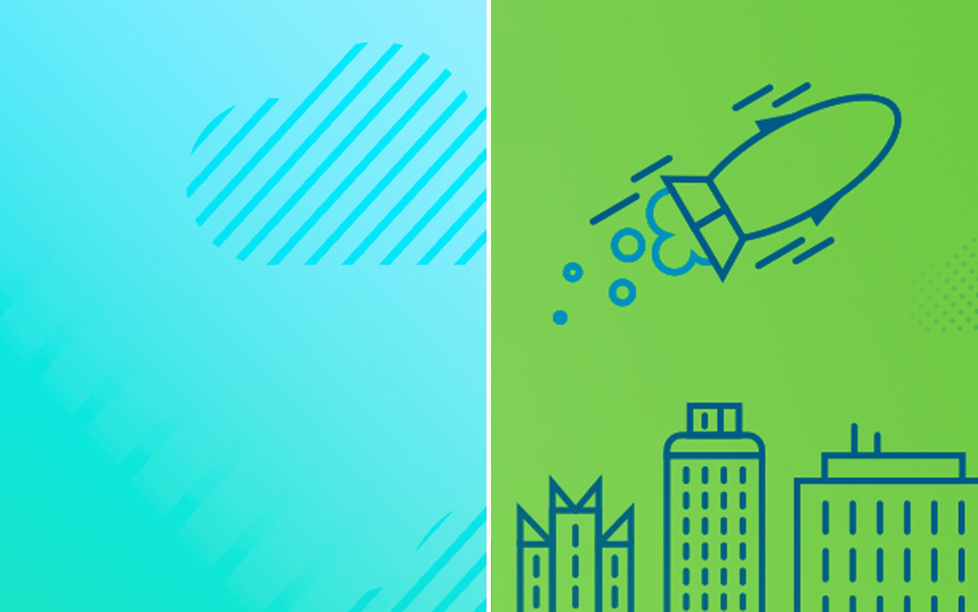 patterns dot gradient rocket icon illustration