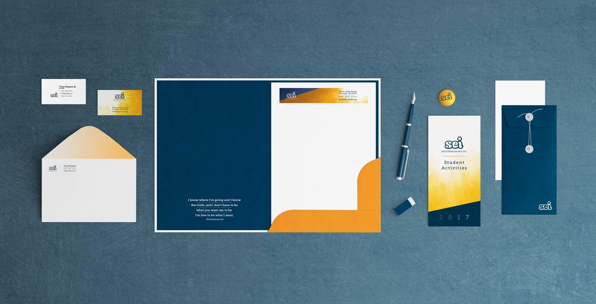 stationary letterhead businsess cards folder envelope print buttons