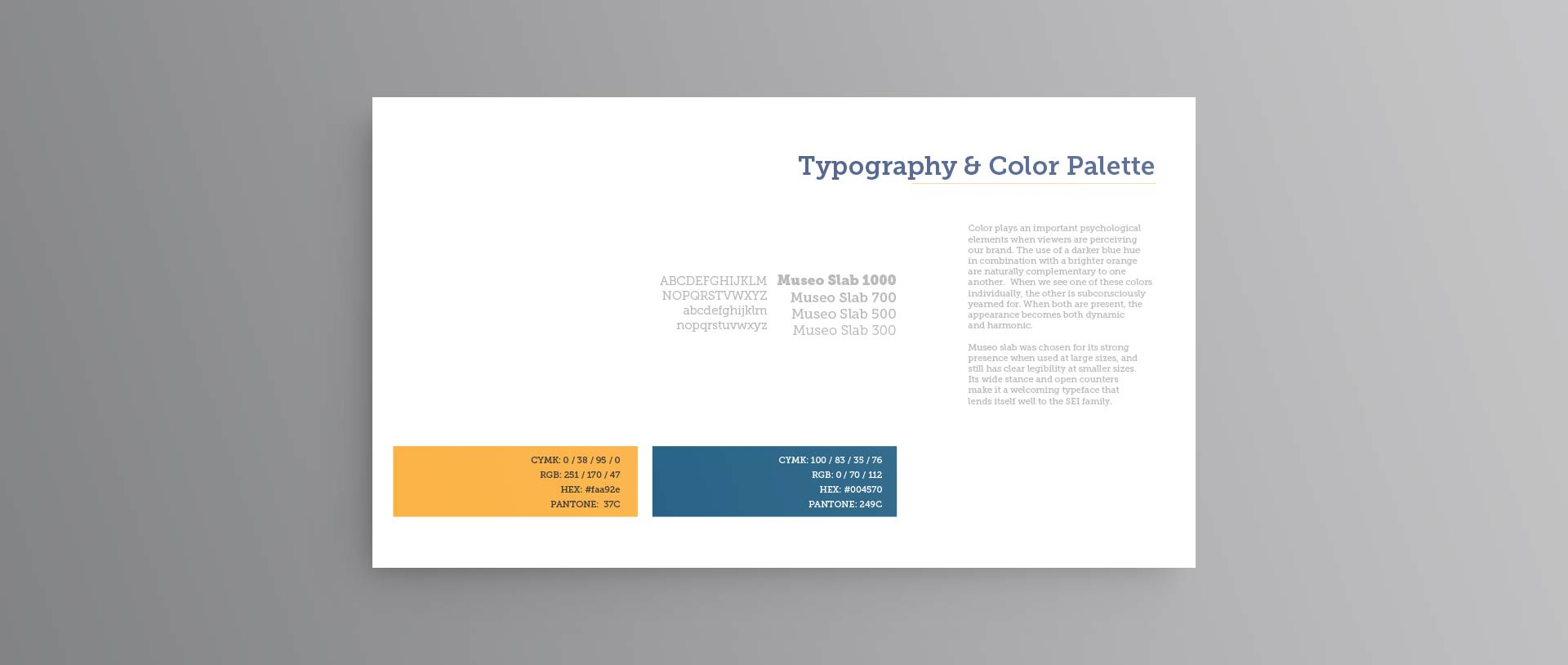 print single-page typography rules color layout design