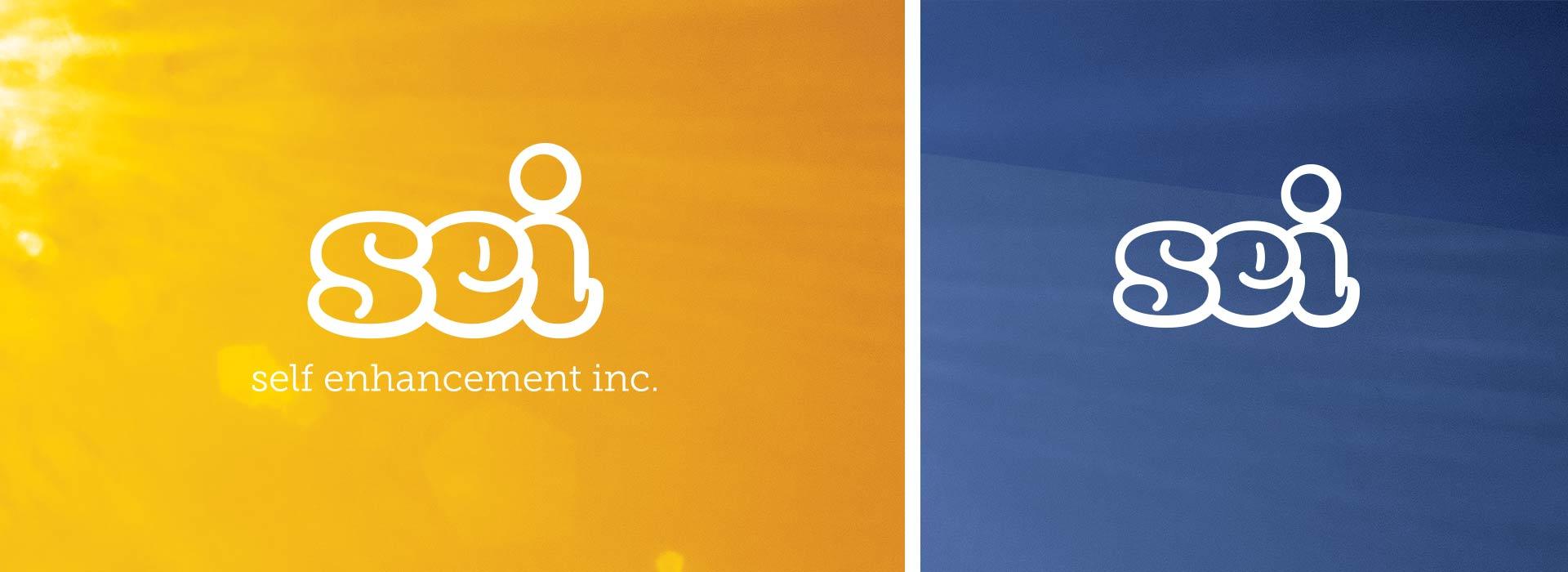 coloful designs logo orange blue