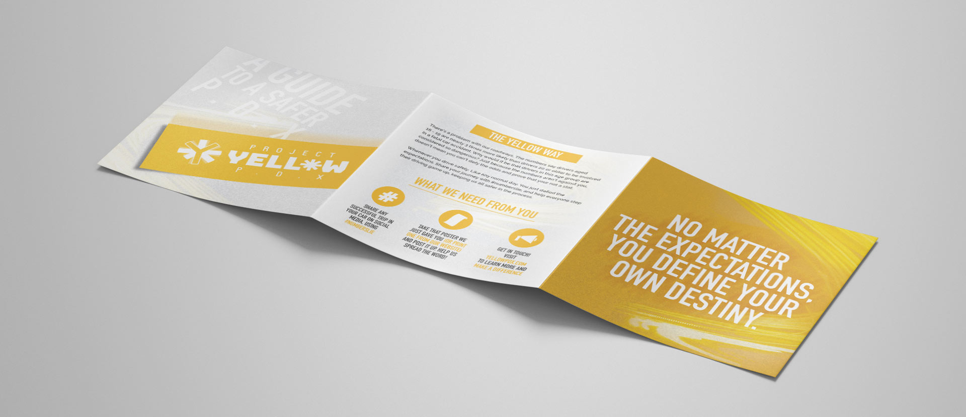 trifold brochure detailed view back pages inspiring design textured paper