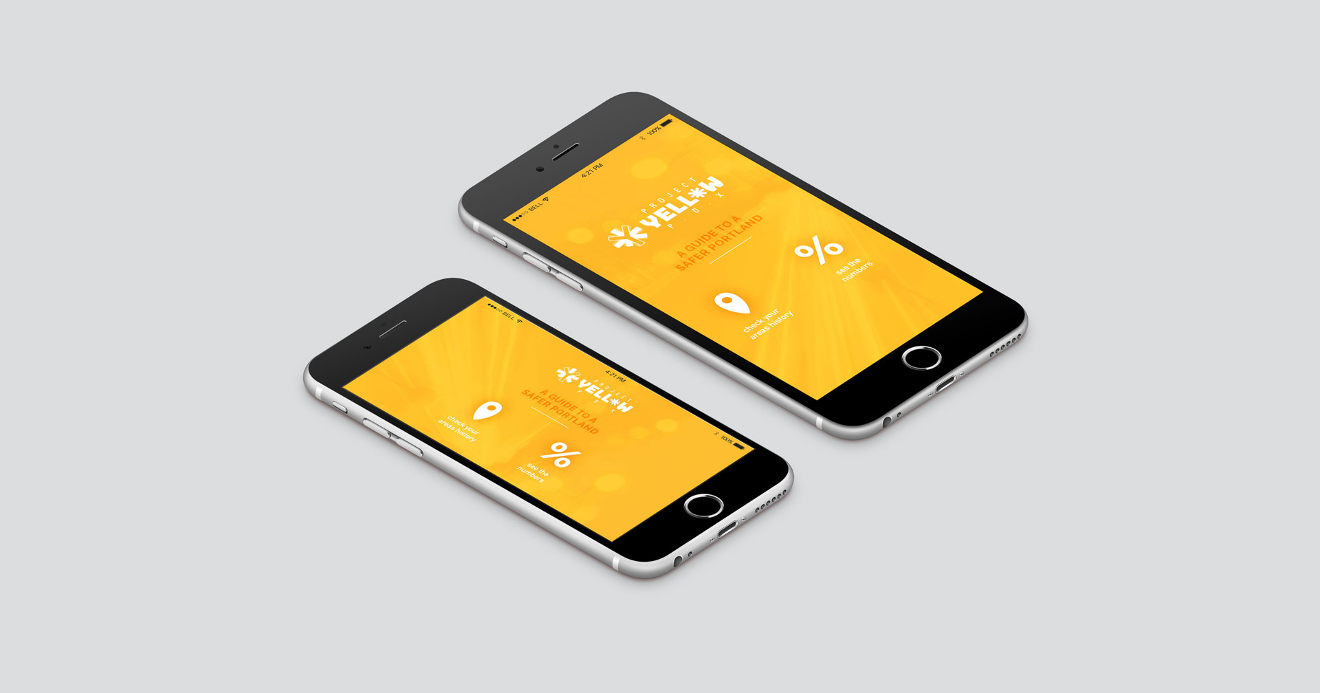 mobile app safety responsive layout landing hero design walkthrough interface