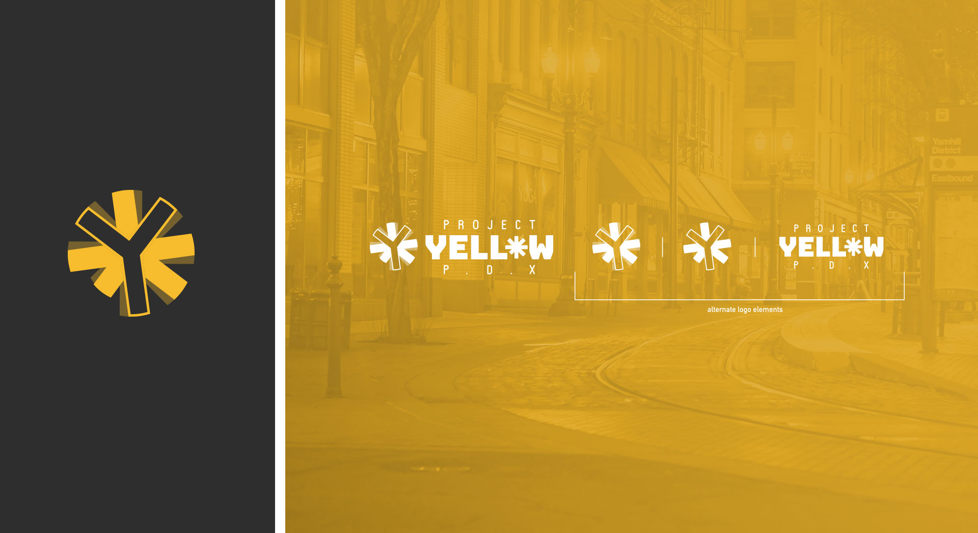 logo branding design yellow textured